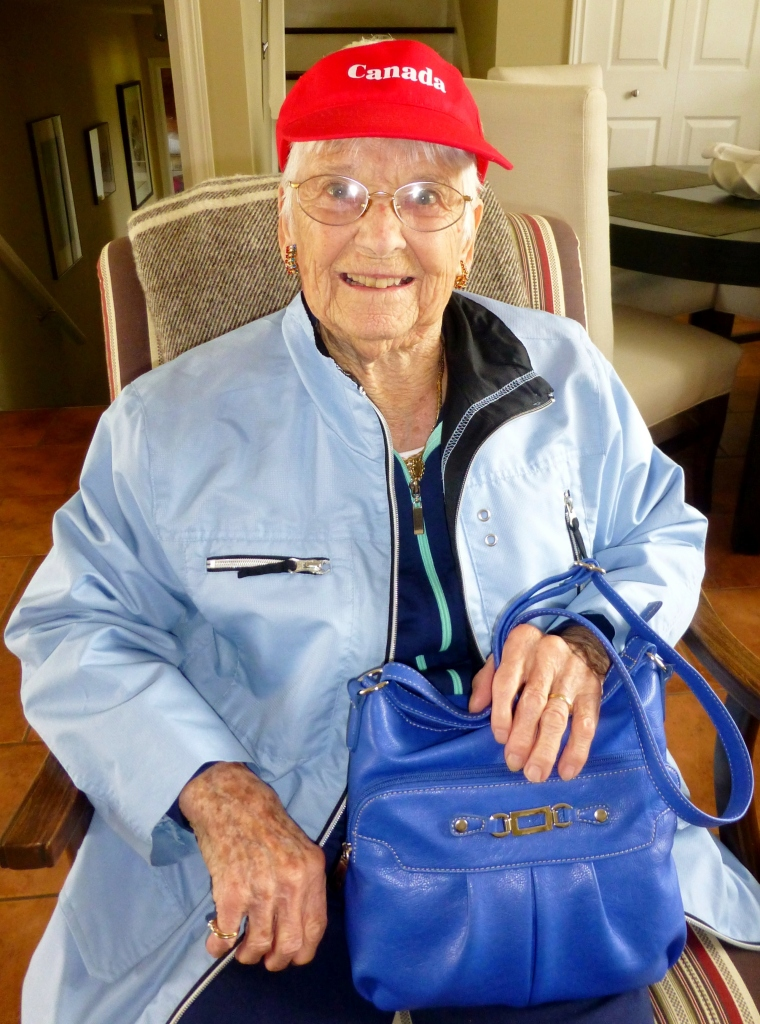 Pauline in her 97th year on a visit to Prince Edward Island.
